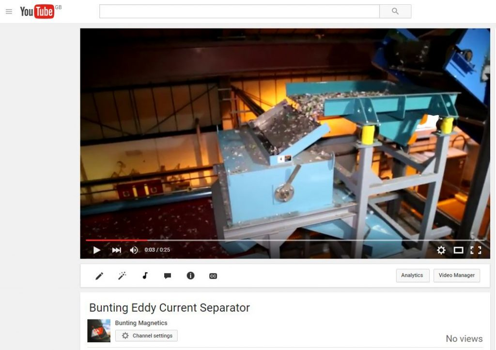 Eddy Current Separator on YouTube