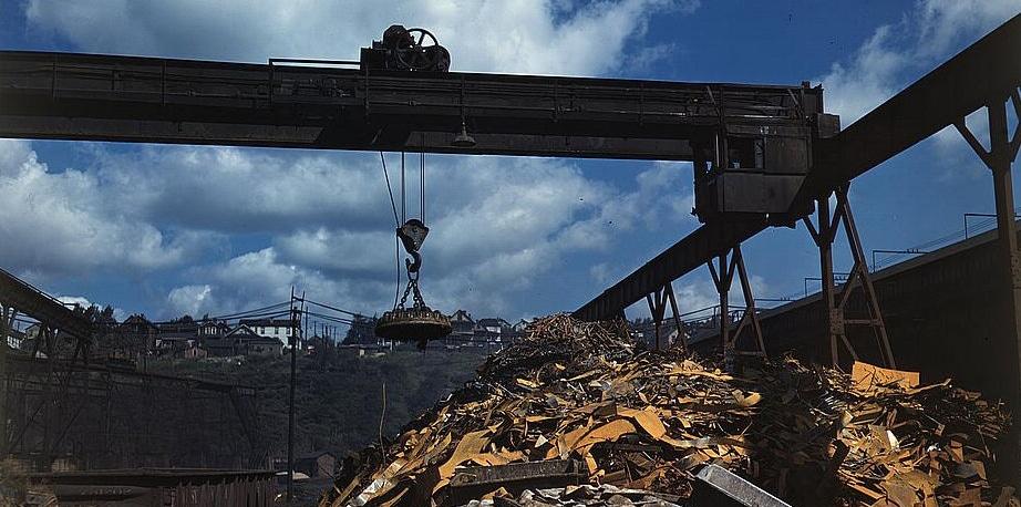 Scrap ferrous metal yard