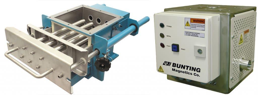metal detector and magnetic separator