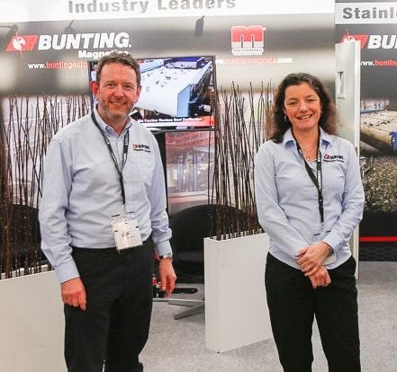 Bunting stand at Bauma 2019