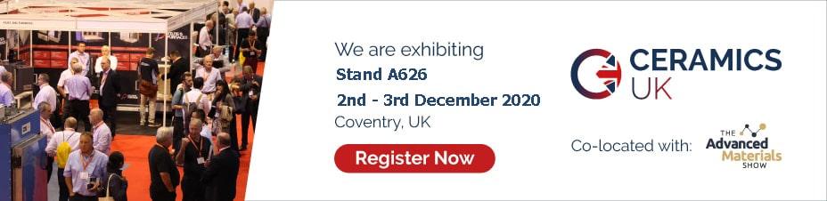 Ceramics UK 2020, 2 - 3 December, Coventry, UK