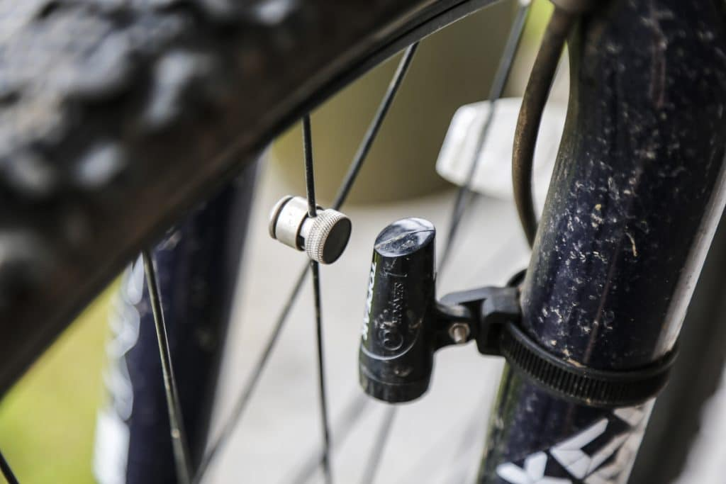Reed switch sensor on a bicycle speed sensor