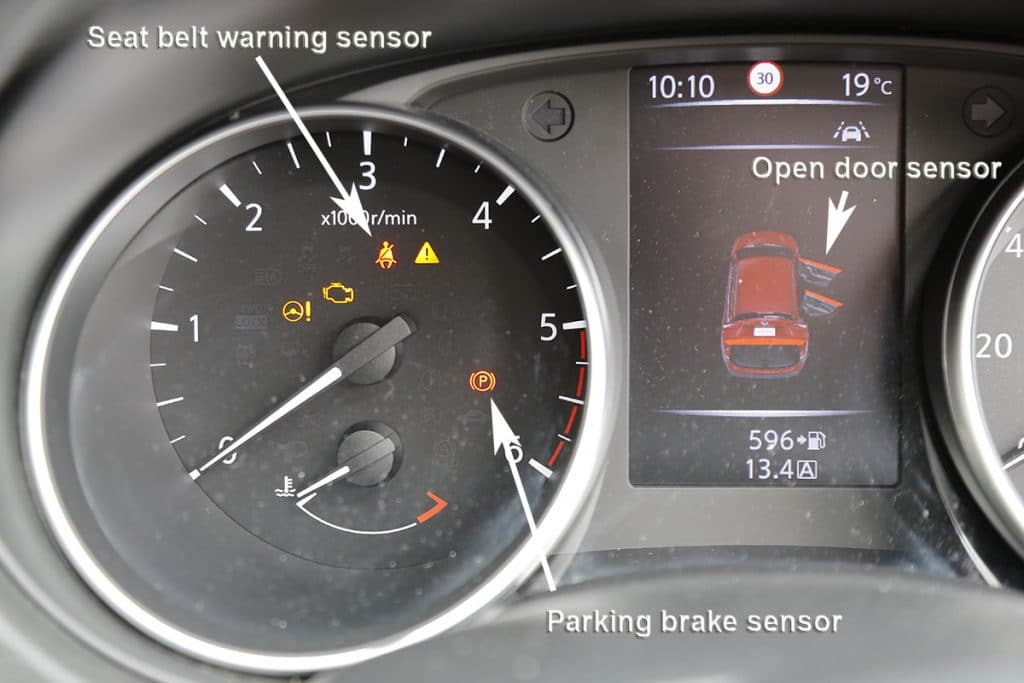 Car Dashboard Magnetic Sensors